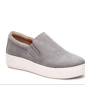 Steve Madden gray gills slip on shoe